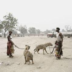 Pieter Hugo 'Gadawan Kura' - The Hyena Men - Mallam Galadima Ahmadu with Jamis and Mallam Mantari Lamal with Mainasara, Nigeria 2005 II