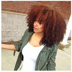 Beautiful Natural Hair-- I WANT THIS COLOR