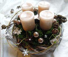 Adventskranz braun  Tischdeko Weihnachten Advent