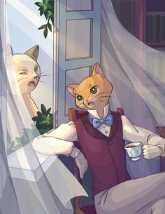 I have been asked some time ago why Baron Humbert von Gikkingen isn't on the group Ghibli-related picture. A teatime in Cat's Bureau Hayao Miyazaki, The Cat Returns Baron, Japanese Animated Movies, Fanart, Studio Ghibli Movies, Cool Animations, Anime Films, Geek Culture, Cartoons