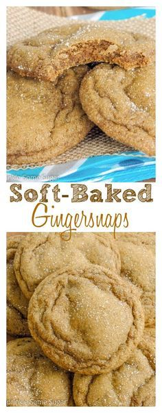 Soft-Baked Gingersnaps. A melt-in-your-mouth, soft and chewy version of gingersnap cookies that are perfect for the Fall!