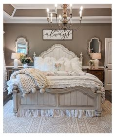 "Farmhouse Charm 🏡 on Instagram: ""This is the PERFECT farmhouse bedroom! 😍 It looks so comfy and cozy! 👀 We would never get out of bed here! 😂 What do you think? TAG a…"" #farmhouse #interior #bedroom #farmhouseinteriorbedroom"