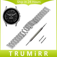 14.99$  Buy now - http://ali2vl.shopchina.info/1/go.php?t=32706475020 - 22mm Stainless Steel Watchband with Butterfly Buckle for Vector Luna Meridian Smart Watch Band Quick Release Strap Link Bracelet  #buyonline