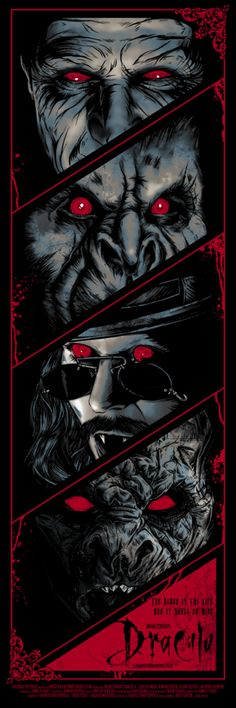 """- Inspired by Bram Stoker's Dracula - Screen Print - Limited Edition of 150 - Approximately 12"""" x 36"""""""