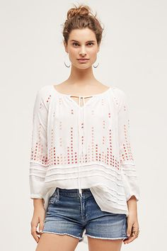 Chloe and Oliver Rambla Stitched Tunic from anthropologie
