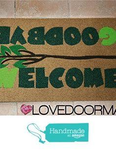 DOORMAT WELCOME GOODBYE CM. 75x45 DIRT BRUSH LOVEDOORMAT ® HANDMADE IN ITALY from LOVEDOORMAT https://www.amazon.co.uk/dp/B071XQYJC2/ref=hnd_sw_r_pi_dp_h7z-yb94TJ1Q4 #handmadeatamazon