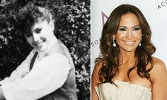 Jennifer Lopez, then, with quite a hair do, and now, the grown-up version.