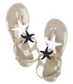 YVES SAINT LAURENT Starry rubber sandals