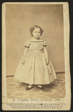 A Virginia slave child in 1863