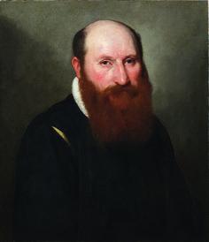 Giovan Battista Moroni - Ritratto di un uomo con barba rossa - 1558-1559 - Collezione privata