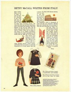 August 1963--Betsy McCall paper doll