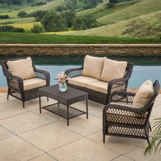 Entertain Your Guests Outdoors With The Palermo Outdoor Set. Give Them  Plenty Of Room And