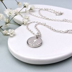 Personalised baptism gift, Christening gift, First communion gift, Gift for goddaughter, Confirmation gift. Confirmation Gifts, Baptism Gifts, Christening Gifts, First Communion Gifts, First Holy Communion, Clean And Shiny, Daughter Of God, Dainty Necklace, Sterling Silver Chains