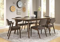Coaster Malone Mid-century Modern 7-Piece Dining Set - Coaster Fine Furniture