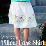 Pillowcase Skirt Tutoral