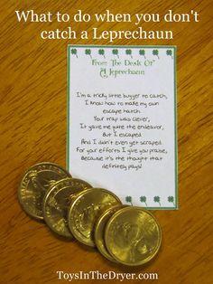 What to do when you don't catch a Leprechaun–Leprechaun Letter