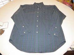 Ralph Lauren Blake Mens M black purple teal long sleeve button up Shirt EUC #RalphLauren #ButtonFront