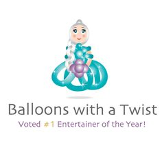 logo design for Balloons with a twist by the logo boutique Best Logo Design, Custom Logo Design, Custom Logos, Princess Logo, Entertainer Of The Year, Kids Logo, Cool Logo, Kids Wear, Balloons