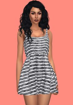 Sims 4 CC's - The Best: Natural Sleeveless Dress Retexture by KenzarSims