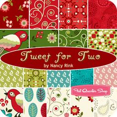 Tweet for Two Fat Quarter Bundle Nancy Rink for Marcus Brothers Fabrics