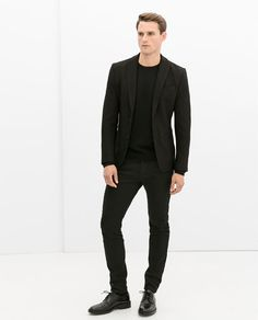 ZARA - COLLECTION AW14 - COATED TROUSERS