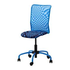 IKEA - TORBJÖRN, Swivel chair, Kvarnatorp green, , You sit comfortably since the chair is adjustable in height.The sloping seat provides a comfortable sitting position when leaning forward. Ikea Desk Chair, Swivel Chair, Chair Cushions, Space Furniture, Home Furniture, Classroom Furniture, Chair Drawing, Room Chairs, Blue Chairs