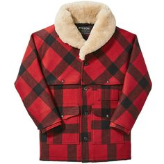 Discover the Filson Lined Wool Packer Coat. An exceptionally warm version of our classic Packer Coat. Cowboy Outfits, Red And Black Plaid, Shearling Coat, Jeans, Men Sweater, Men Casual, Wool, Men's Jackets, Red Clothing