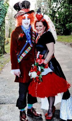Alice in Wonderland themed wedding