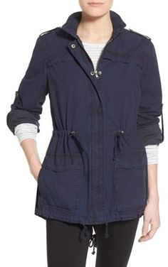 Shop Now - >  https://api.shopstyle.com/action/apiVisitRetailer?id=477828376&pid=uid6996-25233114-59 Women's Levi's Lightweight Cotton Hooded Utility Jacket  ...
