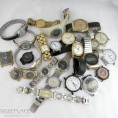 Lot Assorted Watches Vintage Repair Seiko Skagen Citizen Timex Electric Lorus SuzePlace.com