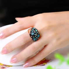 Wholesale Classic Rose Gold Plated Plant Green Rhinestone Ring for Women Only Leather Duffle Bag, Rose Quartz Bracelet, Silicone Rings, Gold Plated Rings, Opal Rings, Rose Gold Plates, Statement Rings, Swarovski Crystals, Pink Ladies