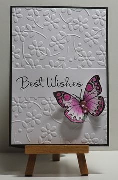 Cathys Card Spot: Best wishes butterfly