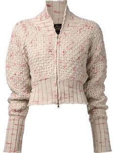 Women's Designer Knitwear 2014 - Farfetch Vivienne Westwood Anglomania 'Guide' Cardigan