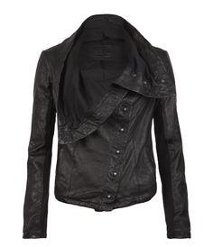 AllSaints Kaito Leather Jacket @Arielle Goddard