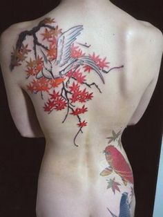 Kyoto Autumn,by Gakkin Tattoo Picture Gakkin Tattoo, Backpiece Tattoo, Tattoos Skull, Body Art Tattoos, Sleeve Tattoos, Cool Tattoos, Tatoos, Awesome Tattoos, Japanese Flower Tattoo