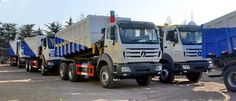 30 units beiben 2534K tipper trucks are exported to Kenya country from CEEC TRUCKS plant