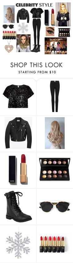 """Winter Wonderland  "" by sukh-deol on Polyvore featuring Cutie, Paige Denim, Yves Saint Laurent, Chanel, Christian Dior, L'Oréal Paris, women's clothing, women's fashion, women and female"