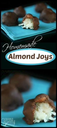 These Homemade Almond Joys are a family favorite! They are so delicious and easy to make! My husband likes these better than the actual candy bar. via @favfamilyrecipz