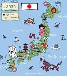 Japan map #JapanTravelItinerary