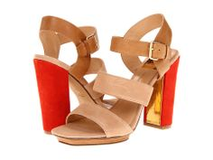 Nude & Red Heels by Dolce Vita.