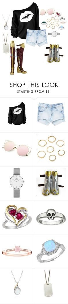 """Untitled #506"" by thominewtandmyoc ❤ liked on Polyvore featuring WithChic, MANGO, Daniel Wellington, Amour, King Baby Studio, Thomas Sabo, Belk & Co., Tiffany & Co. and Miadora"
