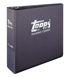 Topps Ultra Pro Trading Cards Album (3 Inch D Ring Binder) Made Specifically for Topps Products Including Baseball Football Basketball Hockey MLS and Non Sports Cards
