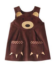Brown Bear Girls Dress by wildthingsdresses on Etsy