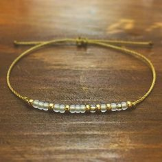 Gold Sister Morse Code Bracelet