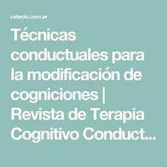Técnicas conductuales para la modificación de cogniciones | Revista de Terapia Cognitivo Conductual