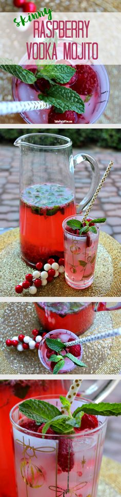 Perfect for NYE! Ring in the New Year with this amazingly delish Skinny Raspberry Vodka Mojito. You'll love it. Your guests will too!