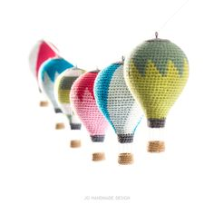 Hot Air Balloons With Basket And Clouds Amigurumi Pattern - Wollige Sachen ! Hot Air Balloons With Basket And Clouds Amigurumi Pattern Hot Air Balloons With Basket And Clouds Amigurumi Pattern Diy Crochet, Crochet Toys, Amigurumi Patterns, Crochet Patterns, Handmade Design, Hot Air Balloon, Crochet Animals, Yarn Crafts, Crochet Projects