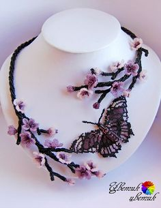 Beautiful beaded jewelry with butterflies (part II) | Beads Magic