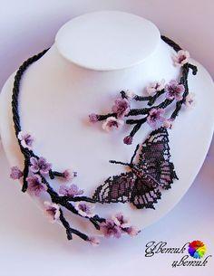 Beautiful beaded jewelry with butterflies (part II) | Beads Magic