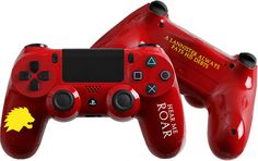 Game of Thrones: Lannister inspired Custom PlayStation 4 Controller #Lannister #GameofThrones #GoT #Playstation4 #CustomController #PS4